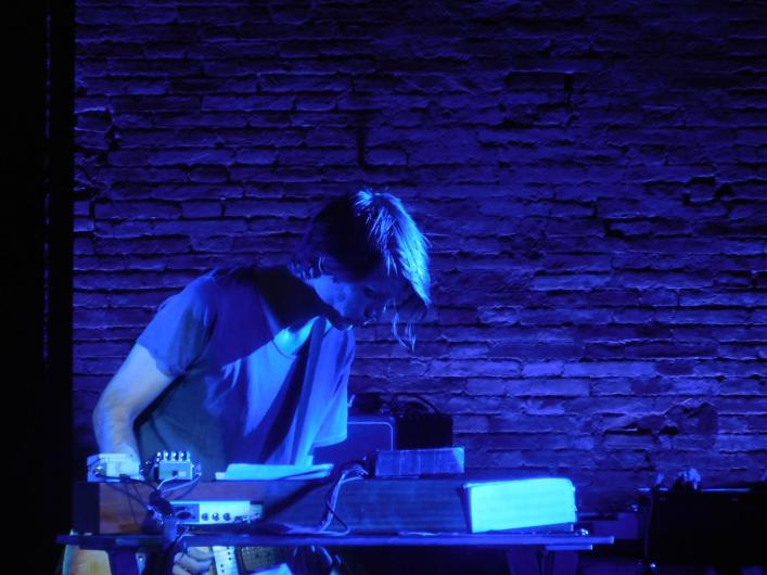 Jonny Greenwood on stage in Macerata