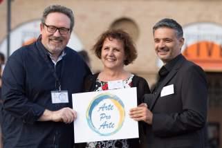 Carlo Maria Binni, Carla Paciaroni and Fabio Pucciarelli of the ArteProArte Committee
