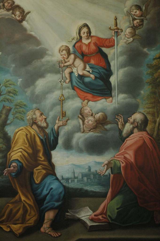 Smerillo- Madonna with Child and Saints Peter and Paul after restoration